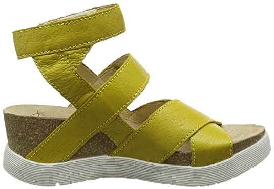 Fly London Wege669, Sandales Bride Cheville Femme, (Lemon 005), 41 EU