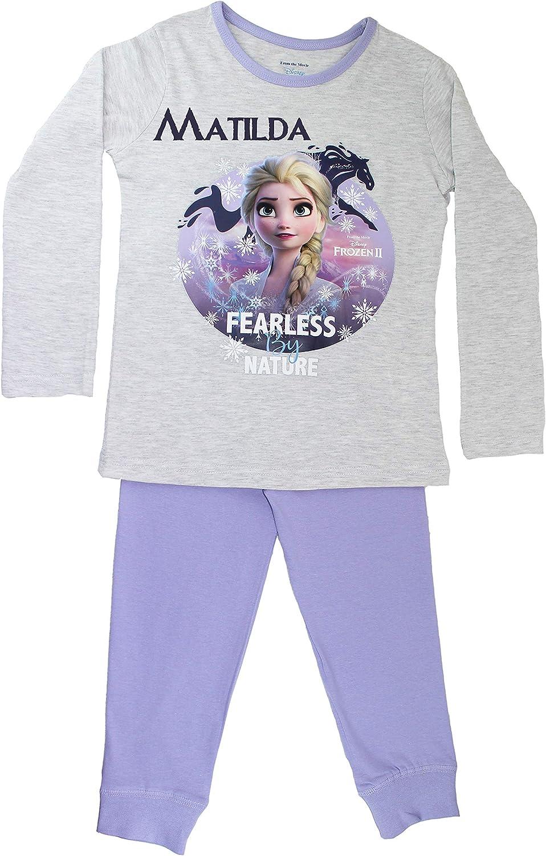 Disney Frozen 2 - Pijama de Elsa (Personalizable) Morado Morado (4-5 Años: Amazon.es: Ropa y accesorios