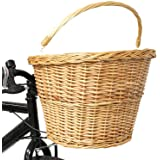 PedalPro Wicker Bicycle Shopping Basket
