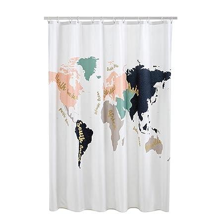 Debenhams home collection multi coloured cosmo world map print debenhams home collection multi coloured cosmo world map print shower curtain gumiabroncs Gallery