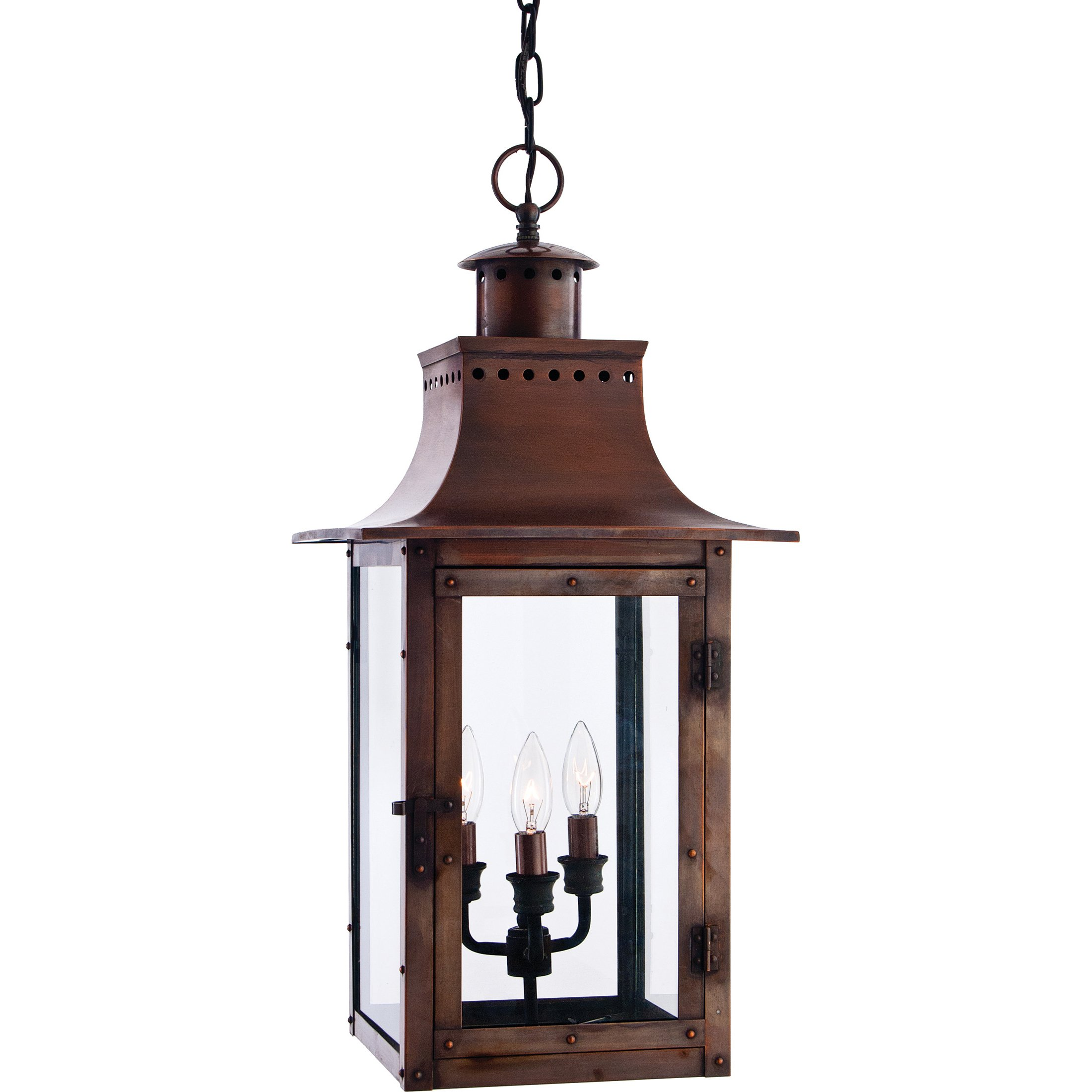 Quoizel CM1912AC Chalmers 26-Inch Jumbo Hanging Lantern, Aged Copper Finish by Quoizel