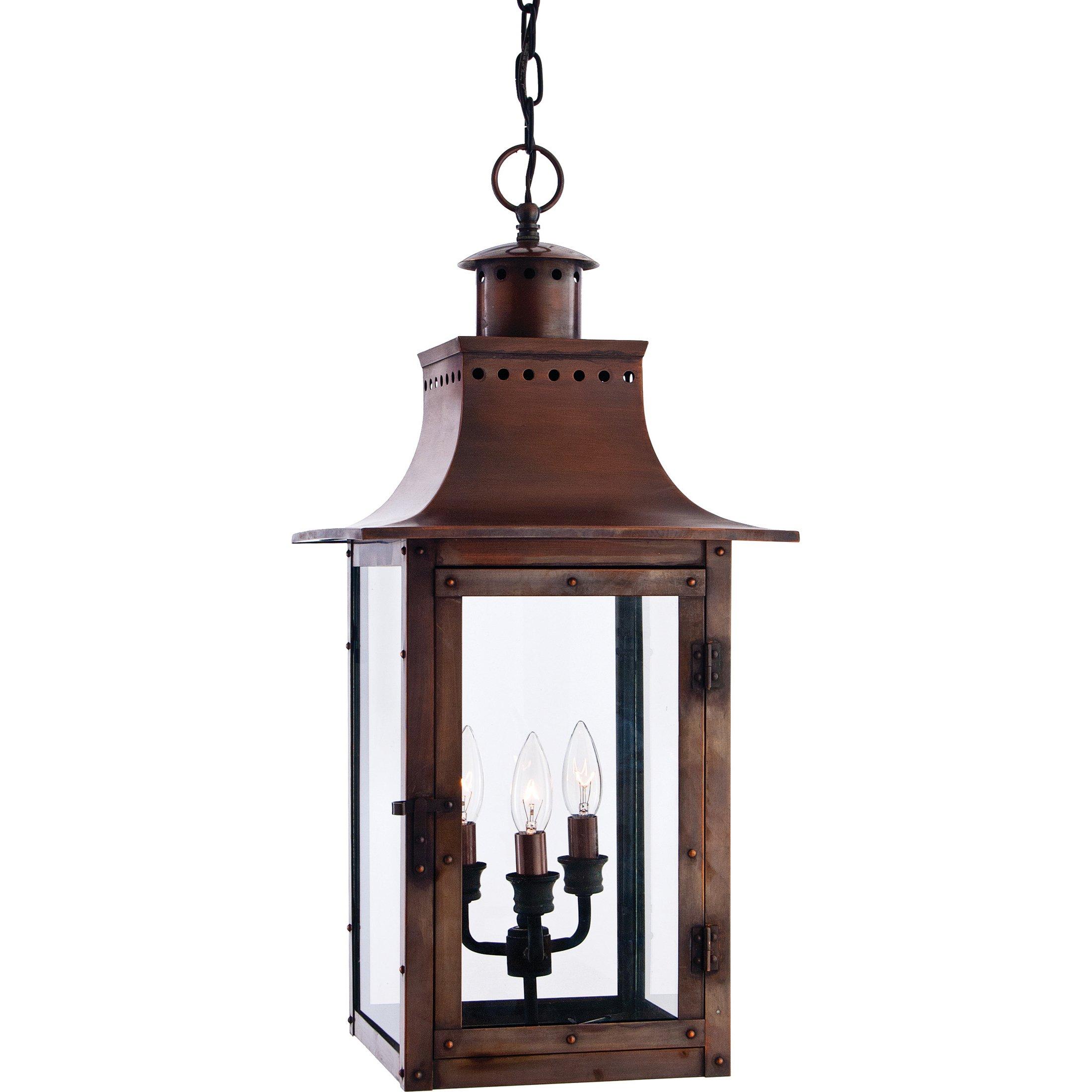 Quoizel CM1912AC Chalmers 26-Inch Jumbo Hanging Lantern, Aged Copper Finish