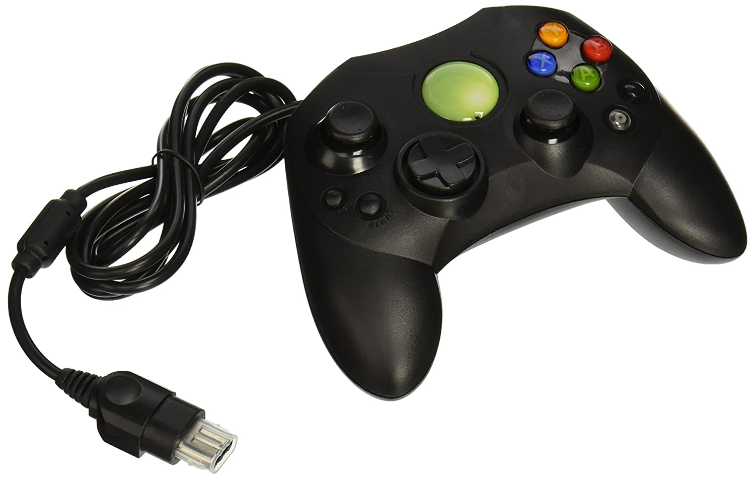 Amazon.com: Old Skool Xbox Controller S-Type Wired Game Pad - Black ...