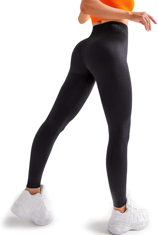 High Waisted Leggings for Women Seamless Yoga Leggings Sweat Proof Tummy Control 81PlDn68qgL