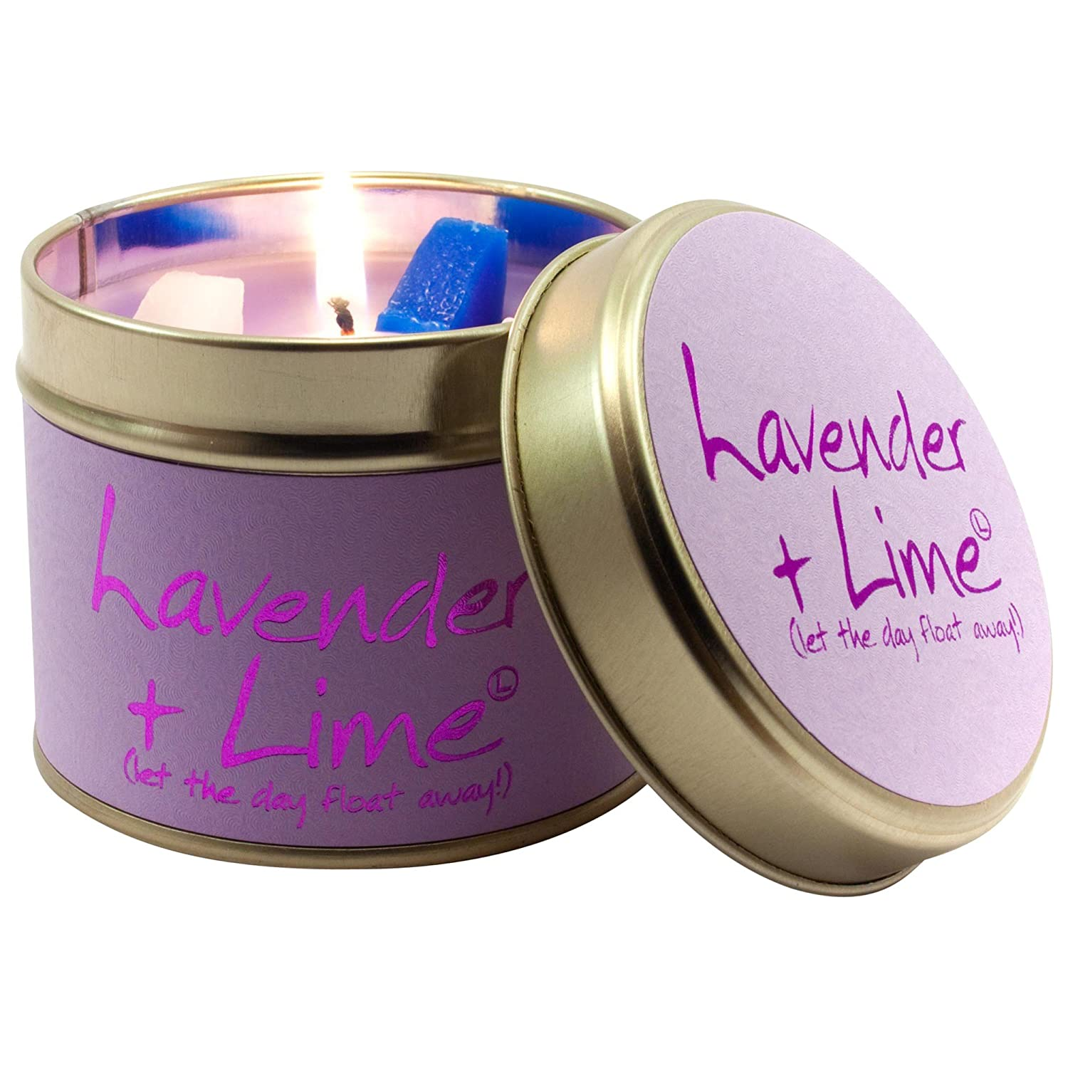 Lily-Flame Lavender and Lime Scented Candle Jar (Pack of 6) - ユリ炎ラベンダー、ライムの香りのキャンドルジャー (Lily-Flame) (x6) [並行輸入品] B01N3KSYKU
