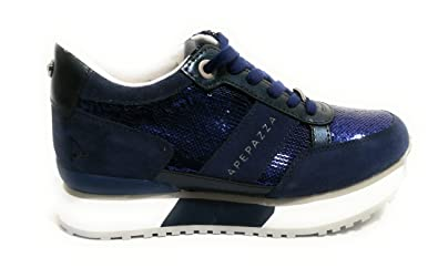 Bleu Pour Femme Ville Apepazza De 35 Chaussures Lacets Eu À WDH9EI2