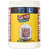 Glad Wavetop Tie Kitchen Tidy Bags, 72 count