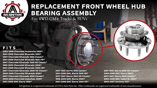 Bearings & Seals Bearings 15104582 15112411 Front Wheel Hub ...