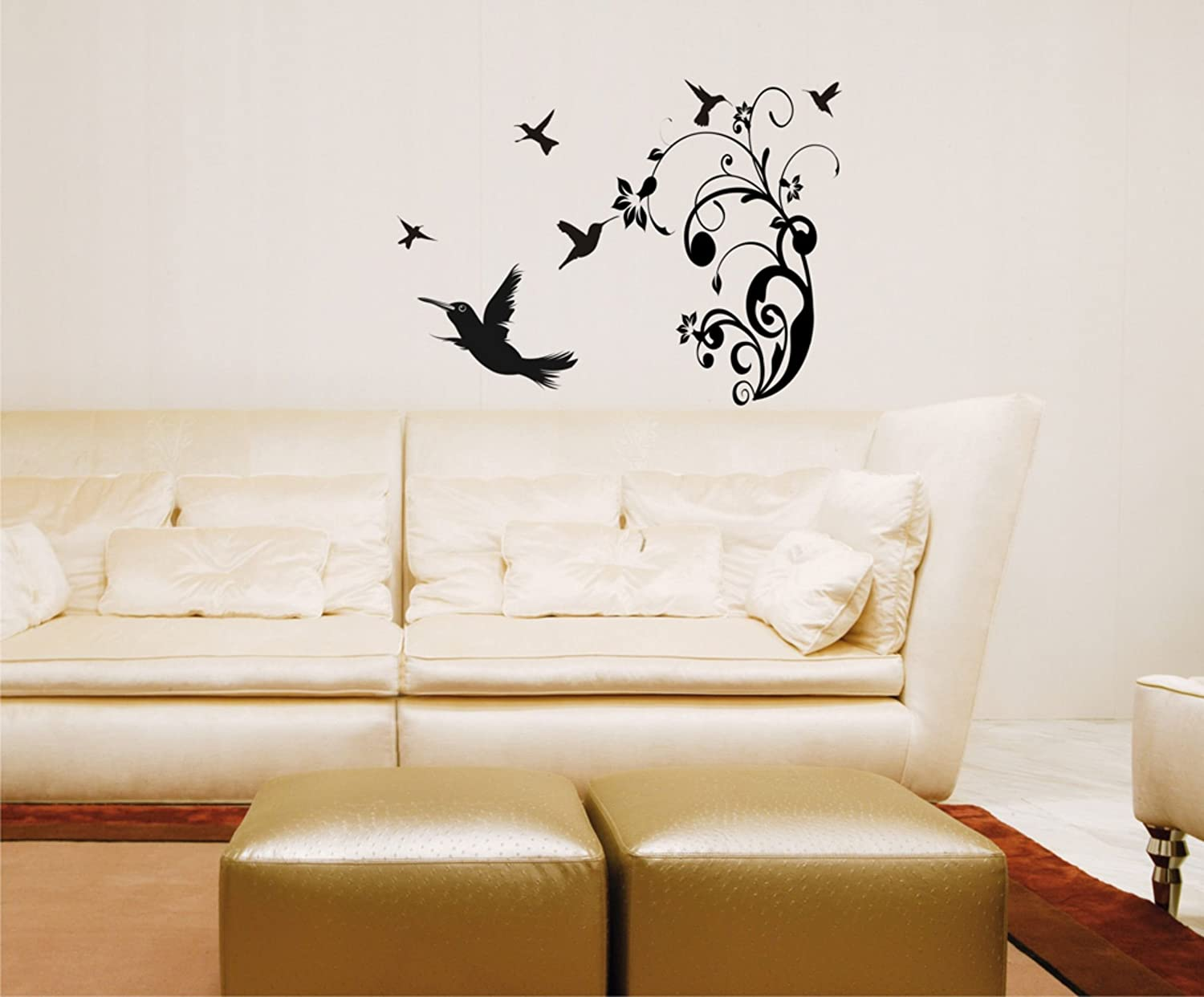 Amazon hummingbirds wall decal home kitchen amipublicfo Image collections