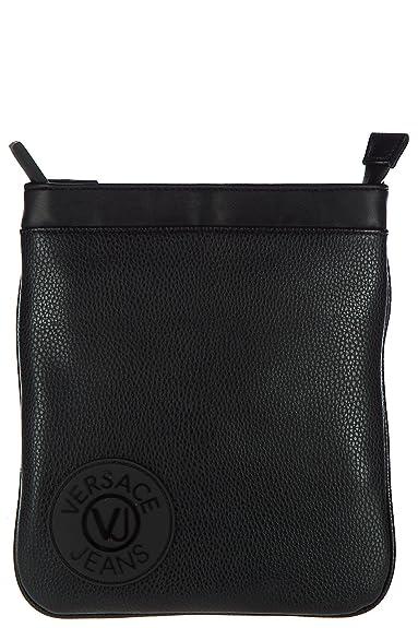 Versace Sac En Homme Noir Cuir Bandoulière Jeans 8nNwOm0v