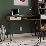 Novogratz Concord Computer Storage, Brown Oak/Gray Desk