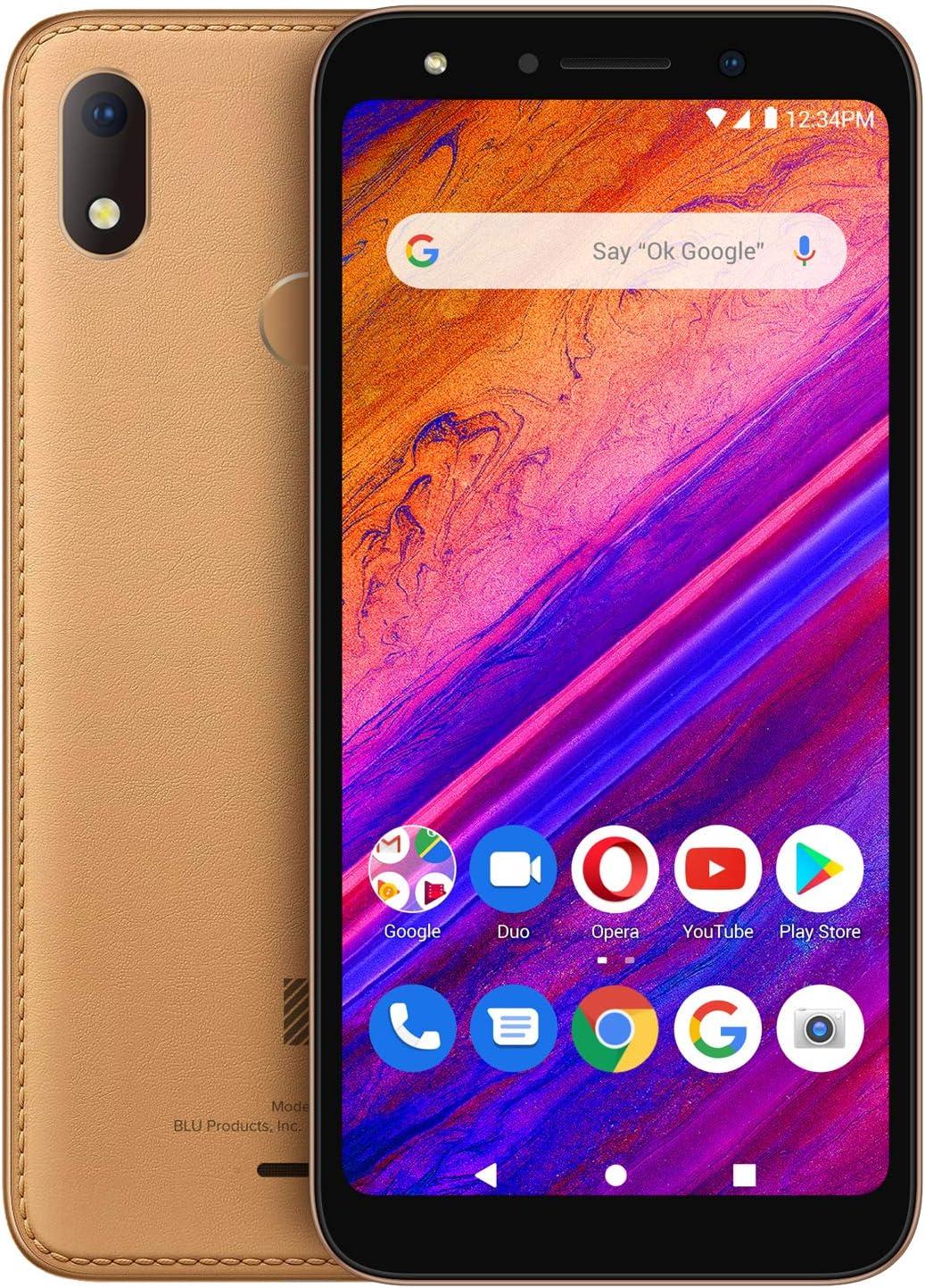 "BLU G6-5.7"" HD Display GSM Unloked Smartphone, 64GB+3GB RAM -Brown Leather"
