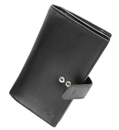 Origen Ladies Large Tab Monedero Cartera de Piel Mala con protección RFID Identificación 31785, Negro