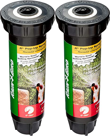 2 Pack Rain Bird 1800 Series High Efficiency Adjustable Sprinkler New Sealed