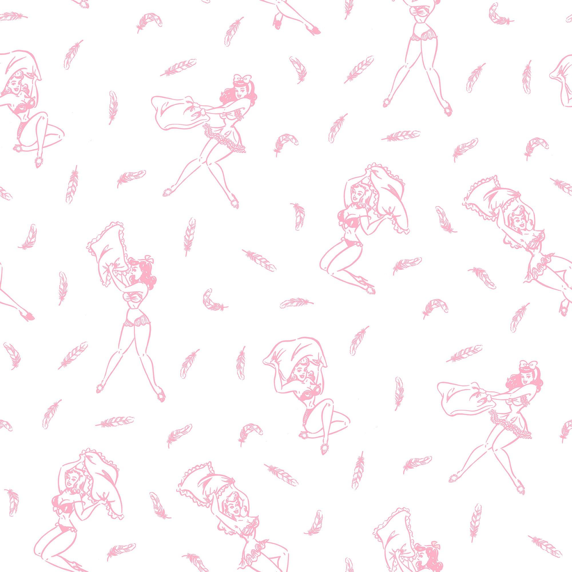 Pink Pin-Up Girls Comforter, Soft Cotton Bedding (Full/Queen)