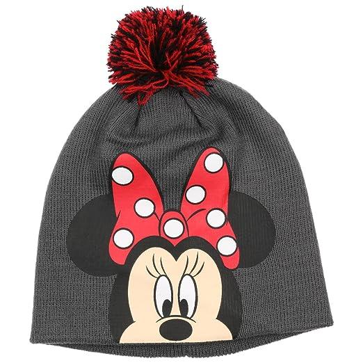 2327530ef235 Chapeaushop Bonnet   Echarpe Minnie Mouse pour Enfant Echarpe (Taille Unique  - Gris-Rouge)  Amazon.fr  Vêtements et accessoires