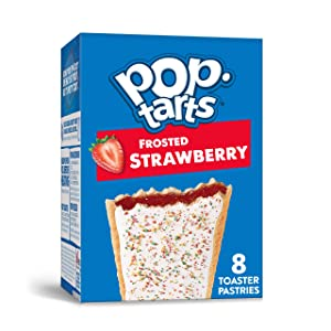 Kellogg's Pop-Tarts Frosted Strawberry Toaster Pastries - Fun Breakfast for Kids (8 Count)