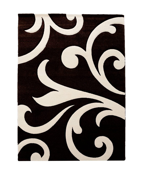Wink Design Damasko Black Tappeto Bagno/Scendiletto, Polipropilene, Nero, 60x110x0.1 cm Tomasucci 2698 2698_Nero