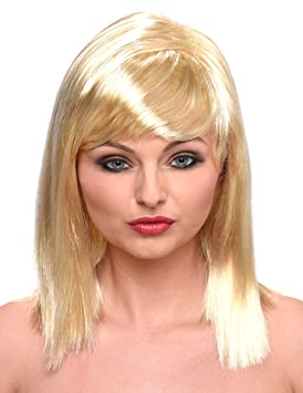 Peluca rubia media melena mujer