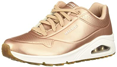 f7657c798fd7 Skechers Womens Uno - Rose Bold Rose Gold 6.5 B - Medium