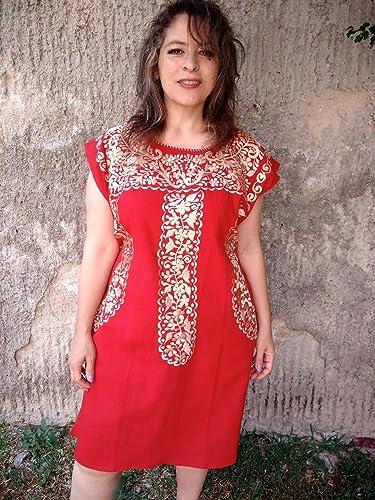 Vestido Mexicano Bordado De Fiesta Para Mujer Amazoncommx