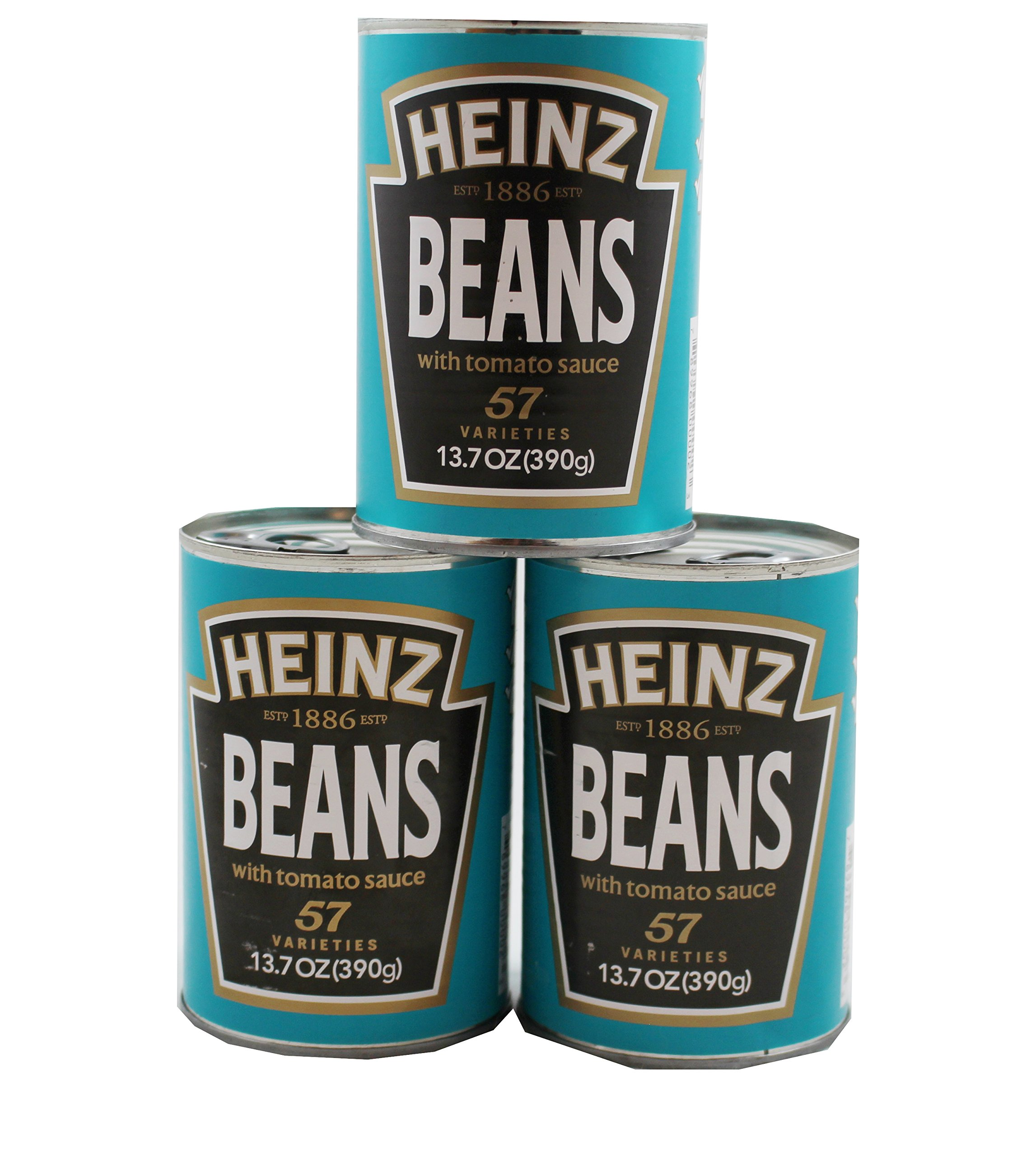 Heinz Beans with Tomato Sauce, 13.7 oz Can (Pack of 3)