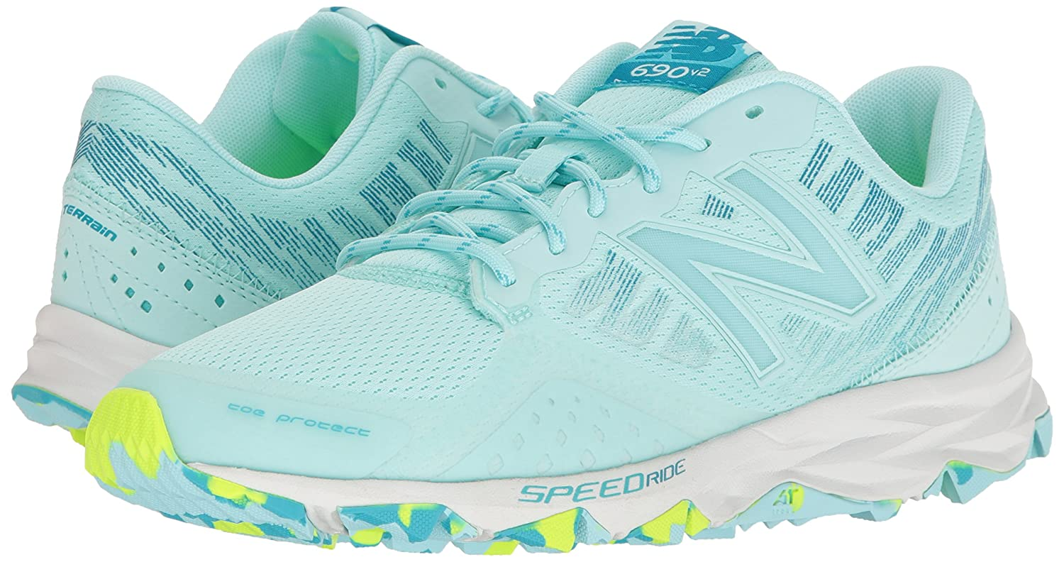 New Balance Women's 690v2 Trail Running Shoes B01M1752EM 9 D US|Ozone Blue Glo/Lime Glo