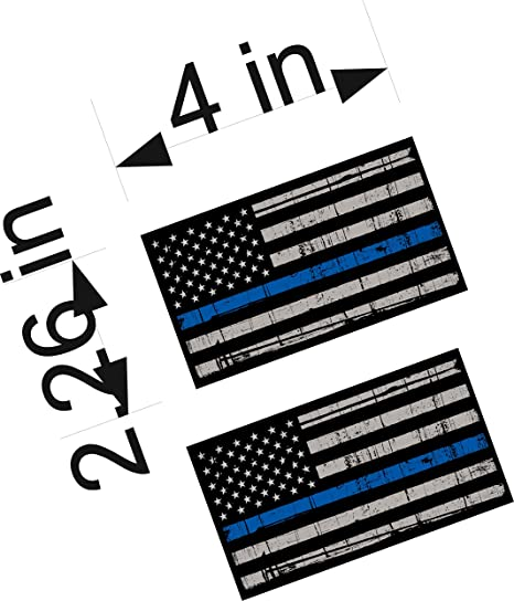 Thin Blue Line Flag Don/'t Tread on Me Tattered Flag Police Decal Various Sizes