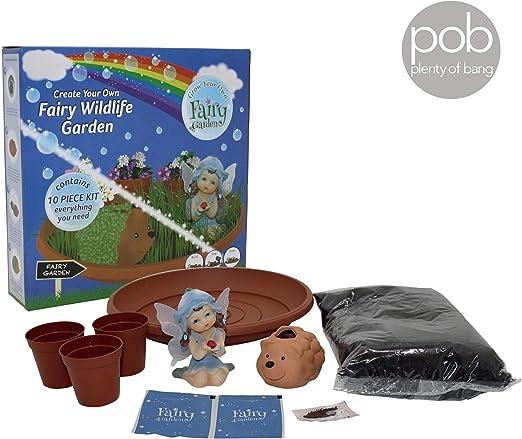 Kit de cultivo de jardín de hadas silvestres para niños, figuras, arte y manualidades todo lo que necesitas: Amazon.es: Jardín