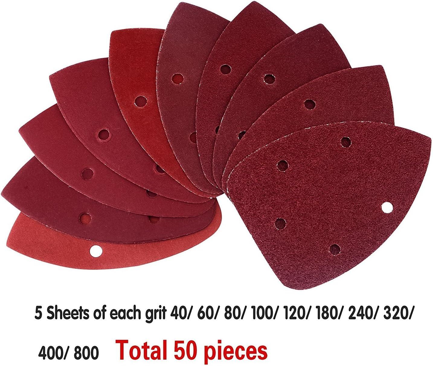 40 souris Feuilles abrasives pour Black et Decker Détail Palm Sander tous grades