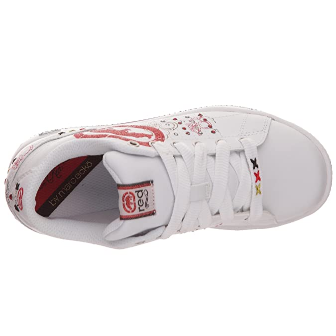 Marc Ecko28324L - WPR - Scarpe sportive Bambina, Bianco (Bianco/rosso), 35