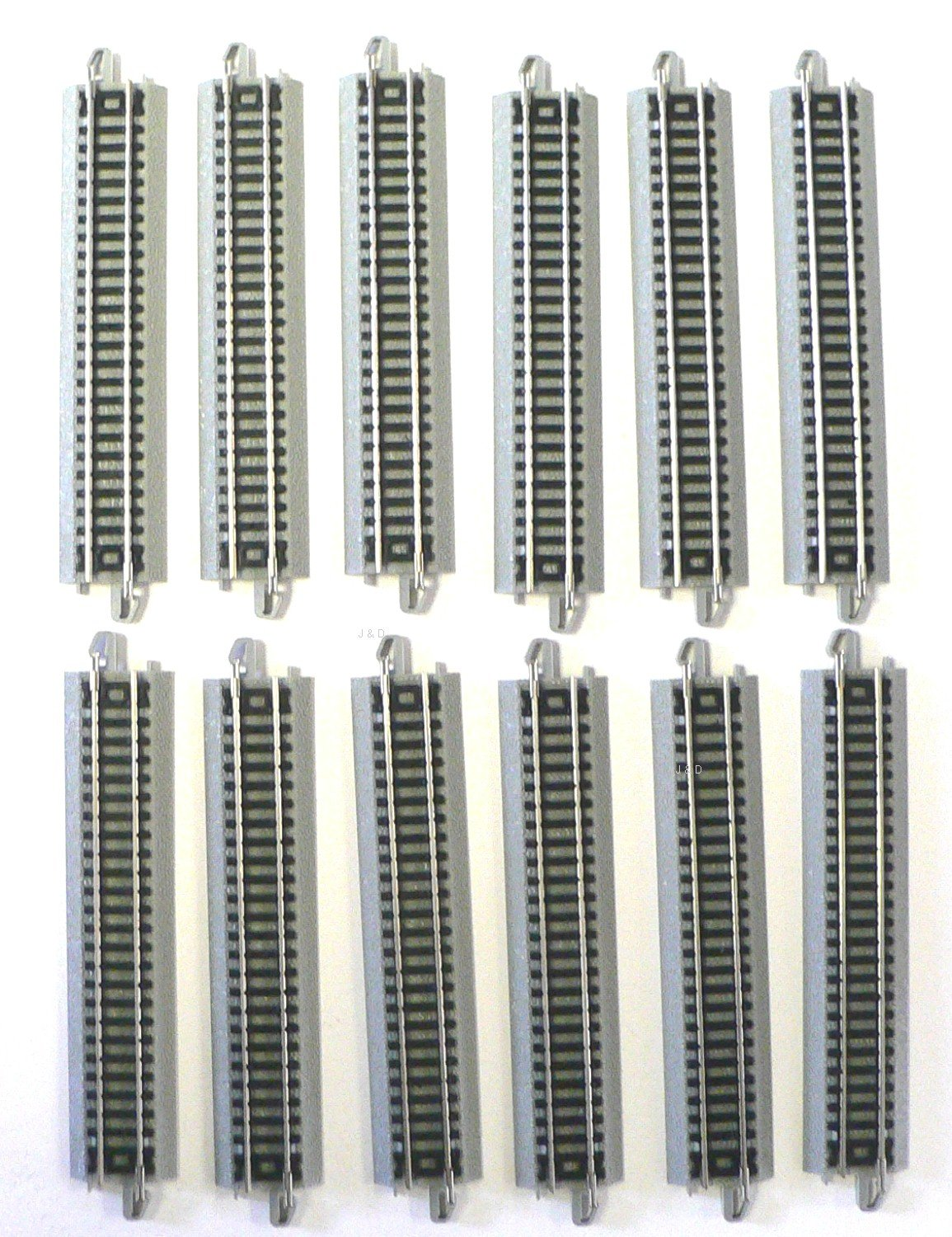 N Scale Bachmann EZ Track 12 Pieces of 5 inch straights