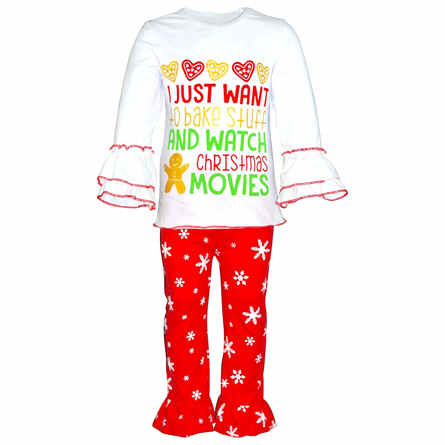 7cea31e5d90b13 WHAT KIDS [LOVE]: Comfort and Christmas Cookies! The comfort of this outfit  and the fun cookie themed applique will make this your little girl\'s  favorite ...