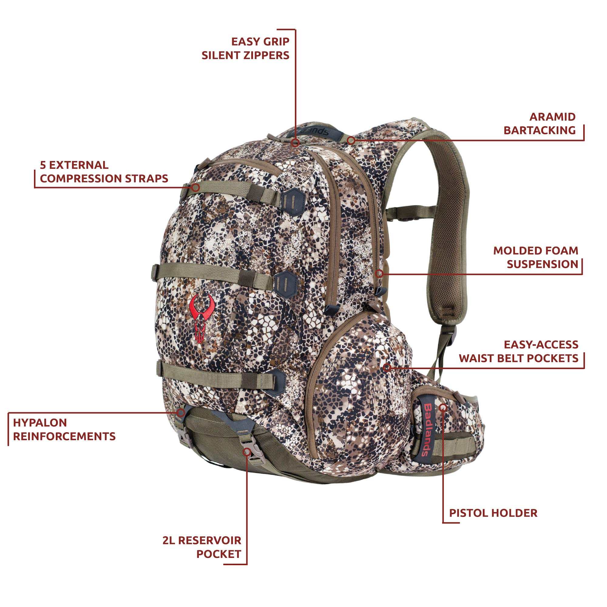 Badlands Superday Camouflage Hunting Backpack - Bow, Rifle, and Pistol Compatible, Approach FX by Badlands (Image #4)