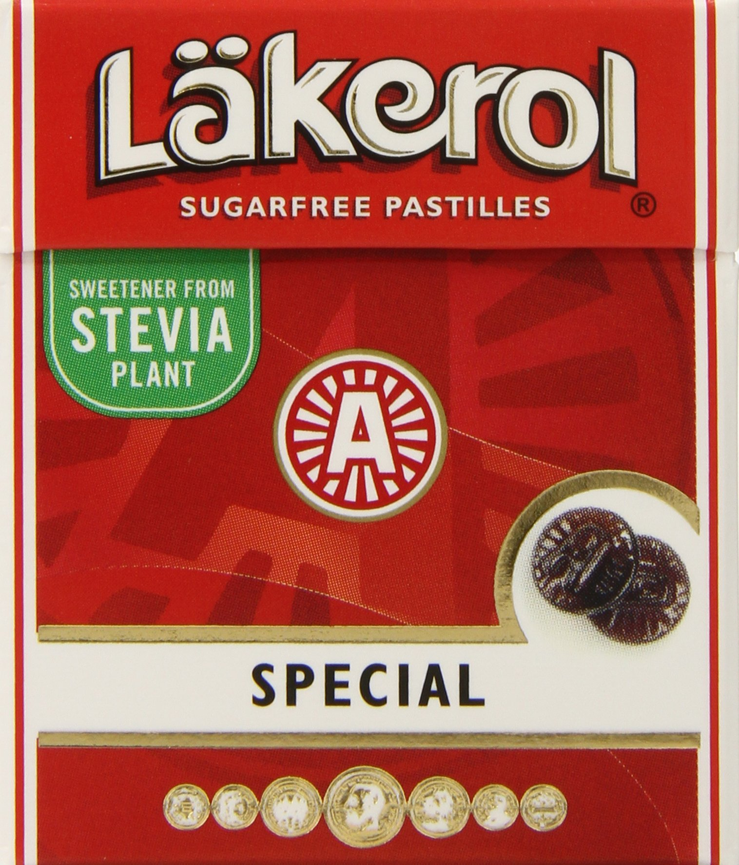 Lakerol Special Menthol Licorice Sugar Free Pastilles, .8 Ounce (Pack of 24) by Lakerol