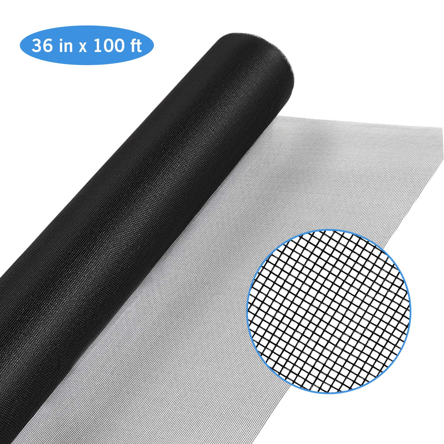 Magicfly Fiberglass Screen Roll, 36 Inch x 100 Feet Window Mesh Screen for Window, Door and Patio, Screen Protection, Patio Screens by Magicfly