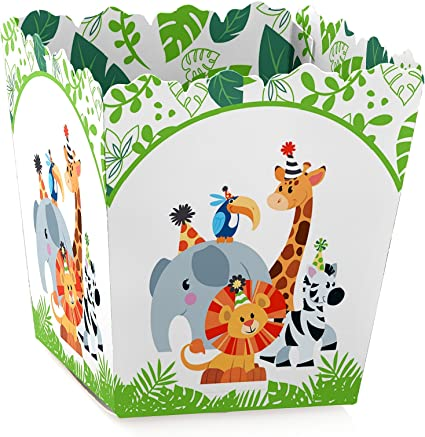 Amazon.com: Jungle Party animales – cajas de caramelos ...