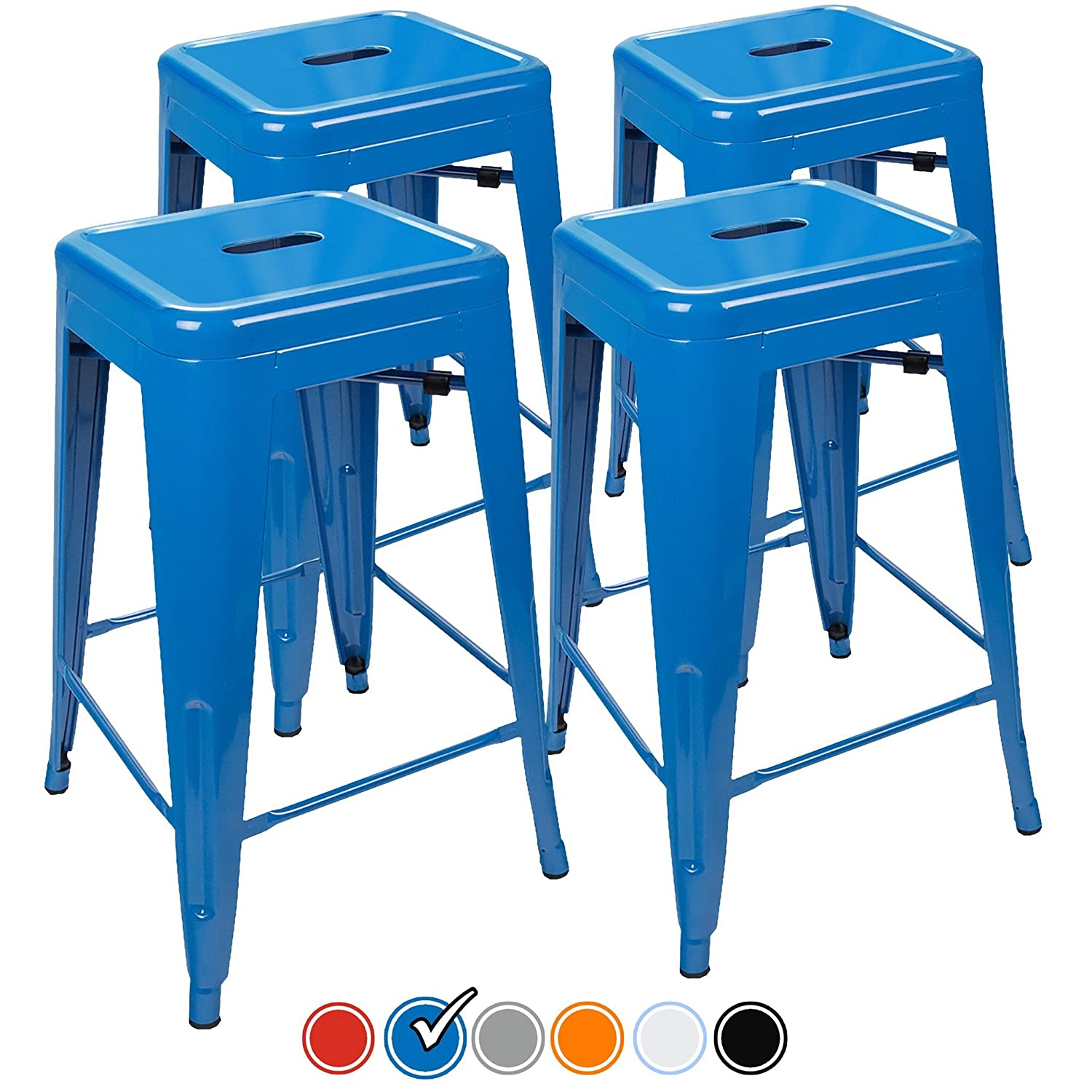 "Amazon.com: 24"" Counter Height Bar Stools,! (BLUE) by UrbanMod, [Set ..."