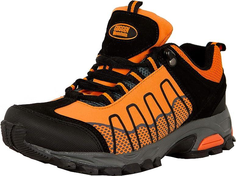 GUGGEN MOUNTAIN Zapatillas de Senderismo Zapatos para Caminar Botas de Monta–a Zapatos de Montana Nordic Walking Mujer T002, Naranja, EU 36: Amazon.es: Zapatos y complementos