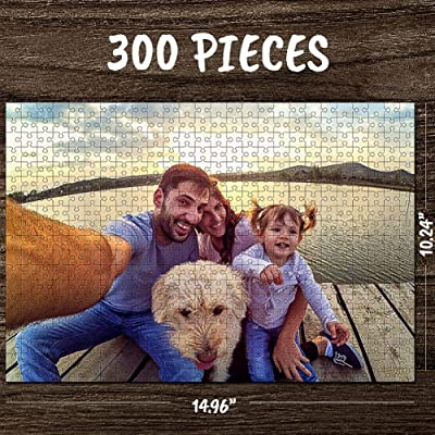 Personalized Custom Photo Jigsaw Puzzle for Adults 300 Pieces Custom Picture Puzzles DIY Puzzles from Photos Toys Gift Mother's Day, Birthday Large Piece for Adults, Men, Women, Boys, Girls, Kids: Toys & Games