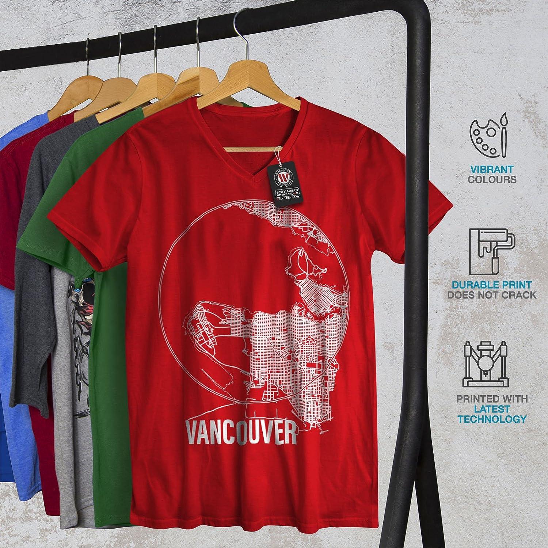 Amazon Wellcoda Canada Big Vancouver Mens V Neck T Shirt City