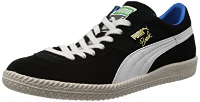 2a433d63dc0 Puma Men s Brasil Football Vntg Black and White Sneakers - 11 UK  India(46EU