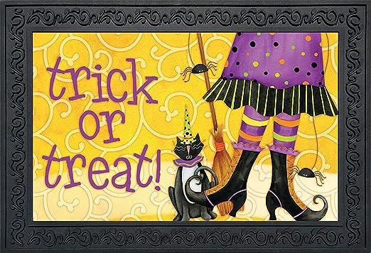 Briarwood Lane Trick or Treat Ghouls Halloween Doormat Ghosts Indoor Outdoor 18 x 30