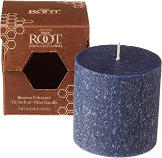 product image for Root Candles Unscented Timberline Pillar Candle , 3 x 3-Inches , Abyss