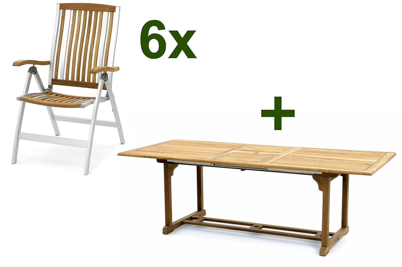 Belardo Oligia Zara Dining Chair Natural Fsc Teak Aluminium 180