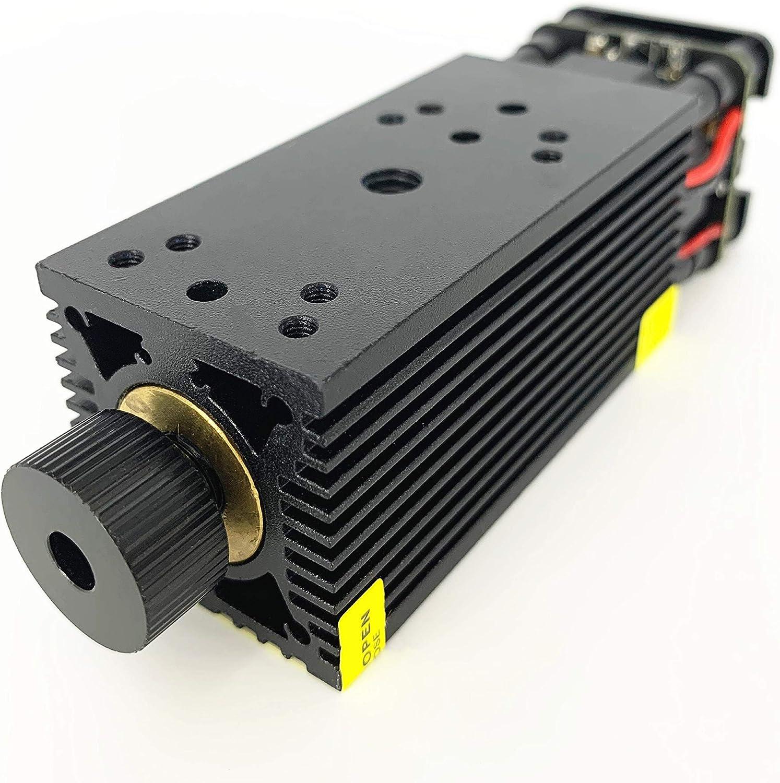 12V PWM TTL Unterst/ützung 5500mW 33mm fokussierbares Lasermodul 5,5W blaues Lasermodul f/ür DIY CNC 1610 CNC2418 CNC3018 PRO Router