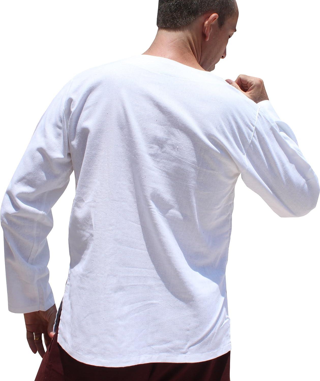 RaanPahMuang Thick Muang Cotton Frog Button Round Thai Collar Shirt or Jacket variant24860AMZ