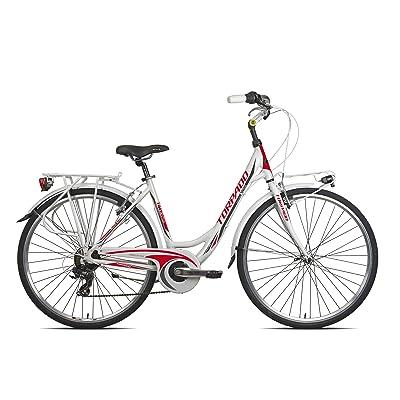 "'Torpado vélo City Anteia 28""Femme Alu 7V taille 52Blanc Rouge (City)/Bicycle City Anteia 28Lady alu 7S Size 52white red (City)"