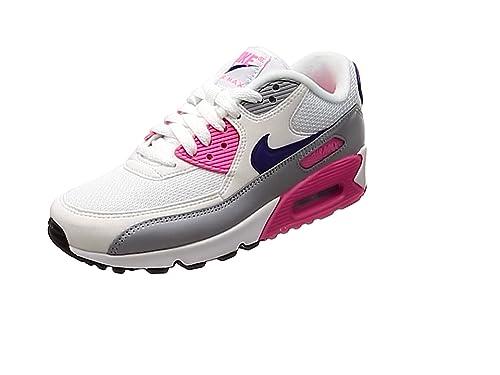 950ef9a6fc060 Nike Women's WMNS Air Max 90 Gymnastics Shoes, (White/Court Purple/Wolf