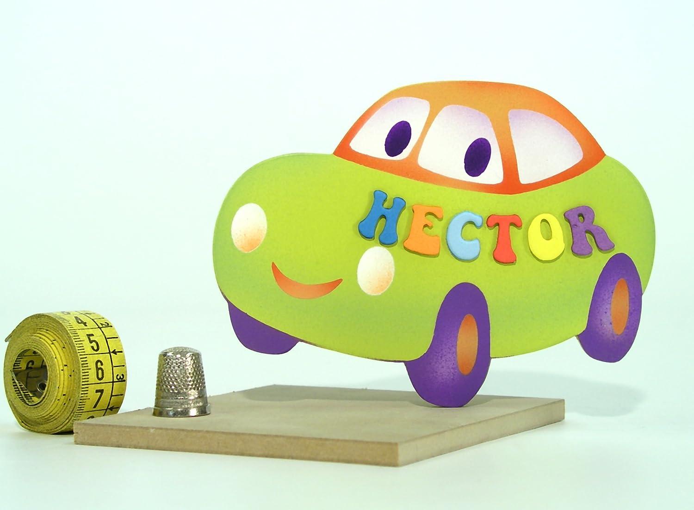 Cartel de madera pequeño para decoración infantil, personalizado con el nombre en un